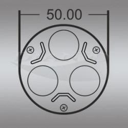 LED луничка 3х1W, цокъл GU10, 220V, клас B - Осветителни тела