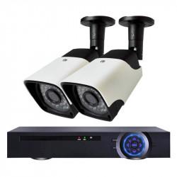Комплект за видеонаблюдение с 2 Full HD IP камери и NVR - Видеонаблюдение и Алармени системи
