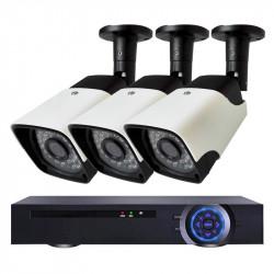 Комплект за видеонаблюдение с 3 Full HD IP камери и NVR - Видеонаблюдение и Алармени системи
