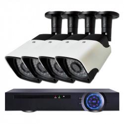 Комплект за видеонаблюдение с 4 Full HD IP камери и NVR - Видеонаблюдение и Алармени системи