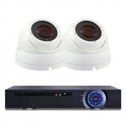 Комплект за видеонаблюдение с 2 Full HD куполни IP камери и NVR - Видеонаблюдение и Алармени системи