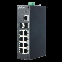 PoE суич Dahua - 8 PoE порта - Видеонаблюдение и Алармени системи