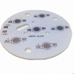 Кръгла алуминиева платка за светодиодно тяло 6W - Мебели и Интериор