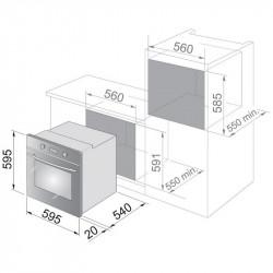 Вградена фурна DeLonghi SMN 8 ED , 59 L , А , Механично - Фурни за вграждане