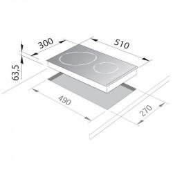 Вграден керамичен плот DeLonghi PVC 30 TC - Котлони