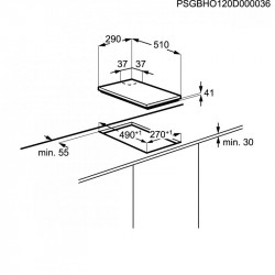 Вграден керамичен плот Electrolux EHF3320NOK - Котлони
