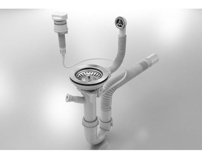 Добавка на автоматичен сифон за еднокоритна мивка, 22-00