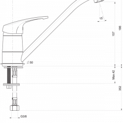 Смесител за кухня-стоящ Impact 08905, Хром, 0005 - Мивки и Смесители