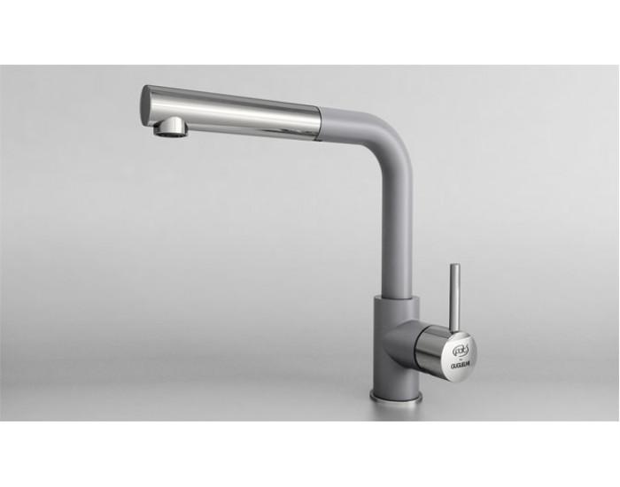Смесител за кухня с изтеглящ се душ Impact 68936, Fat Granite, 1007 Тъмносив
