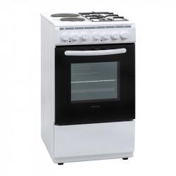 Готварска печка (ток/газ) Finlux FXC 522M , 2 газ 2ток , Бял - Готварски печки