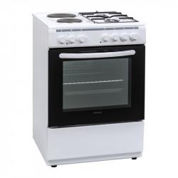 Готварска печка (ток/газ) Finlux FXC 622M , 2 газ 2ток , Бял - Готварски печки