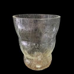 Кашпа Орхидея (Напукано стъкло), Височина 16 см. Диаметър 13 см. - Сувенири, Подаръци, Свещи