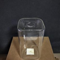 Стъклен съд с отвор, Височина 14 см Диаметър 8/8см. - Сувенири, Подаръци, Свещи