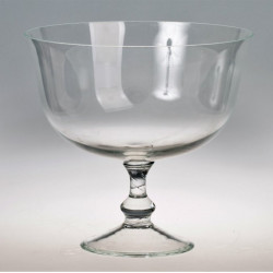 Стъклена купа на столче, Височина 17 см/ Диаметър 18 см. - Сувенири, Подаръци, Свещи
