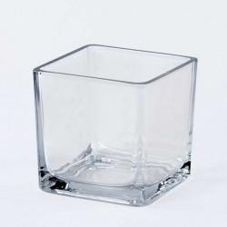 Стъклена Ваза, квадрат 10см/10см/10см. - Сувенири, Подаръци, Свещи
