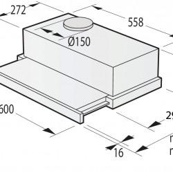 Телескопичен абсорбатор за вграждане TH60E3B - Аспиратори
