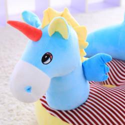 Детски плюшен фотьойл Smart Blue Unicorn - Мебели за детска стая