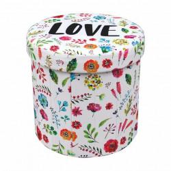 Табуретка BM-Dizzy Flower 1 - Мека мебел