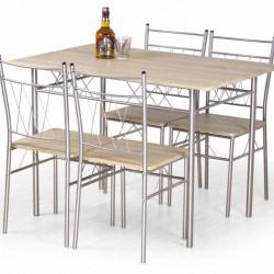 Трапезен комплект BM-Faust 1 - маса + 4 стола - Комплекти маси и столове