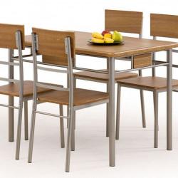 Трапезен комплект BM-Natan 1 - маса + 4 стола - Комплекти маси и столове
