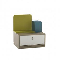 Луксозно нощно шкафче за детска стая Memo.bg модел Green - Sonata T