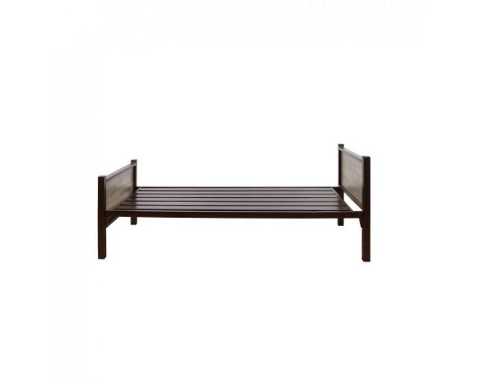 Единично легло N Furniture Кафяв Тик, за матрак 90/190 - Комплекти за външни условия