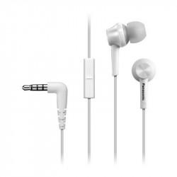 Слушалки с микрофон Panasonic RP-TCM105E-W - Компютри, Лаптопи и периферия