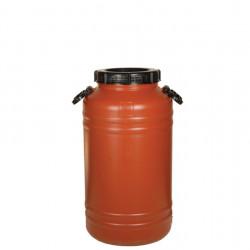 Пластмасов бидон 60 литра с дръжки – серия Теракота - Външни Структури