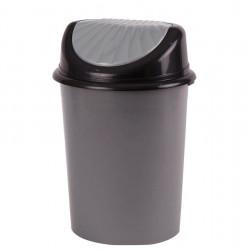 Пластмасов кош за отпадъци с люлеещ капак, 32 литра - Външни Структури