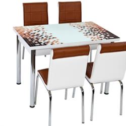 Комплект Маса с 4 стола CB030 - Комплекти маси и столове