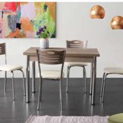 Комплект Маса Ben 1355 с 4 Стола Karya 2994 - Комплекти маси и столове