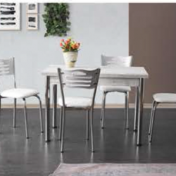 Комплект Маса Ben 1356 с 4 Стола Karya 2994 - Комплекти маси и столове