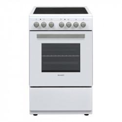 Готварска печка (ток) Sharp KF-56FVMT15WL-CH , Бял , Керамични - Готварски печки