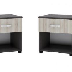 Комплект Нощни шкафчета Memo.bg модел BM035-035А, с чекмедже, босфор с астра - Stefany Style