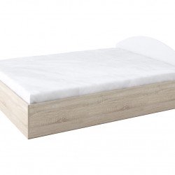 Легло с табла Memo.bg модел BM013B, за матрак 160/200, с механизъм, Дъб сонома и бяло - Stefany Style