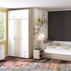 Спален комплект Memo.bg модел BM- B1, легло, гардероб, нощно шкафче, скрин    - Stefany Style
