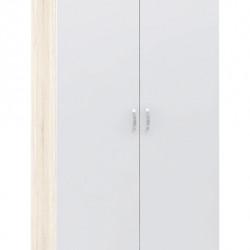 Гардероб Memo.bg модел BM018B, двукрилен, Дъб сонома и бяло - Stefany Style