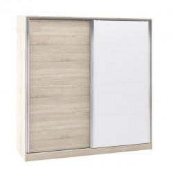 Гардероб Memo.bg модел BM015B, Плъзгащи врати, Дъб сонома и бяло - Stefany Style