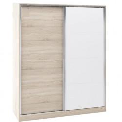 Гардероб Memo.bg модел BM014B, Плъзгащи врати, Дъб сонома и бяло - Stefany Style