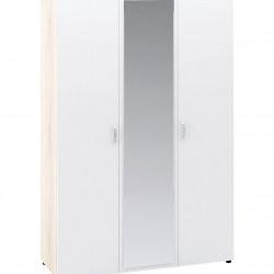 Гардероб Memo.bg модел BM021B, трикрилен, с огледало, Дъб сонома и бяло - Stefany Style