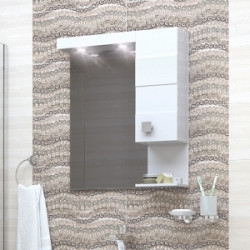 Горен шкаф за баня Irina, LED осветление - Шкафове за Баня