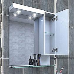 Горен шкаф за баня Emona, LED осветление - Шкафове за Баня