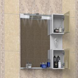 Горен шкаф за баня Karolina, LED осветление - Шкафове за Баня