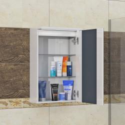 Горен шкаф за баня Little, LED осветление - Шкафове за Баня