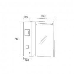 Горен шкаф за баня City, LED осветление - Шкафове за Баня