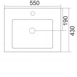 Мивка Fayans Lineа 55см. 8115650001041 - Мивки и Смесители