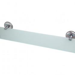 Стъклена полица с държачи 40 см модел 105 - Продукти за баня и WC