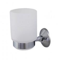 Стъклена чаша модел 204, със стойка - Продукти за баня и WC
