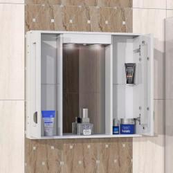 Горен шкаф за баня Elegans, LED осветление - Шкафове за Баня
