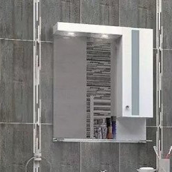Горен шкаф за баня Flora, LED осветление - Шкафове за Баня